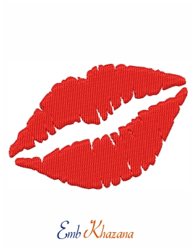 Lips Embroidery Pattern