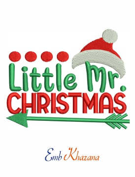 Little Mr Christmas embroidery design