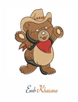 Little Bear Embroidery Design