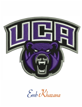 Logo of Central Arkansas Bears embroidery design