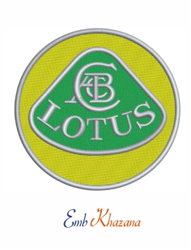 Lotus Car Logo Embroidery Design