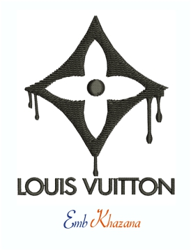 Louis Vuitton Dripping Flower Symbol Machine Embroidery Design