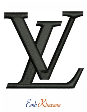 louis vuitton logo embroidery design