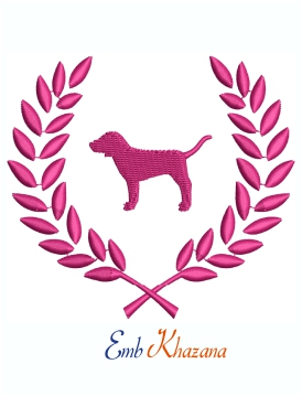 Victoria Secret Pink Dog Logo Machine Embroidery Design