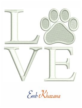 Love Your Pet Embroidery Design
