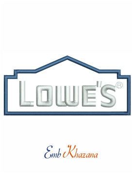 Lowes logo Embroidery design