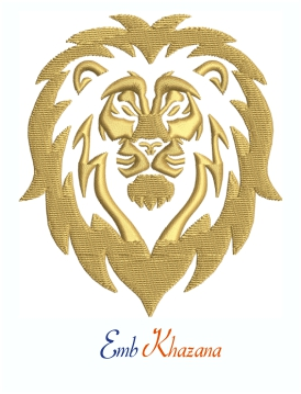 Lion Mascot Logo Machine Embroidery Design
