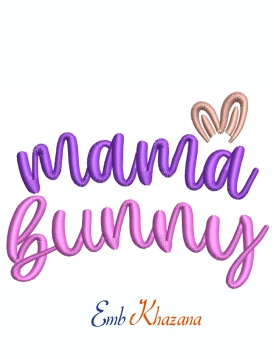 Mama Bunny Machine Embroidery Design