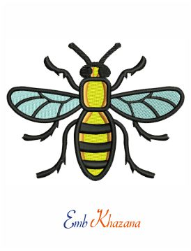 Manchester Bee Embroidery Design