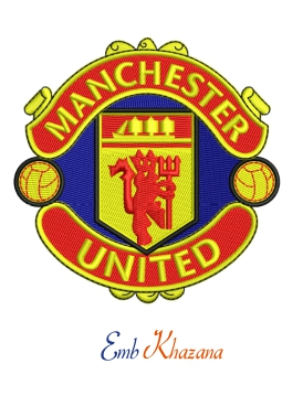 Manchester United Logo Embroidery Design