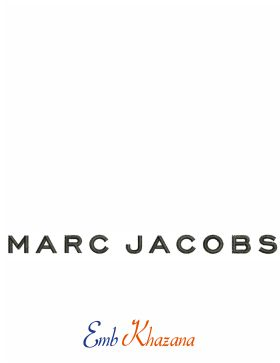 Marc Jacobs Logo Embroidery Design