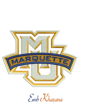 Marquette Logo Embroidery Design