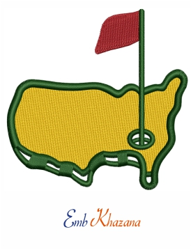Master golf Embroidery design