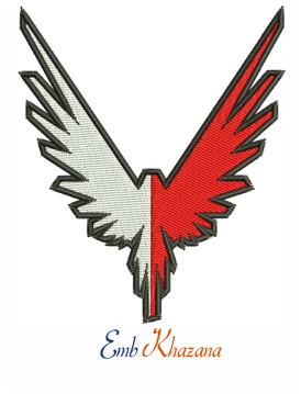 Maverick bird embroidery design