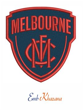 Melbourne Football Club Embroidery Design