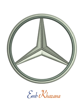 Mercedes Logo Embroidery Design