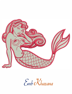 Mermaid Embroidery Pattern