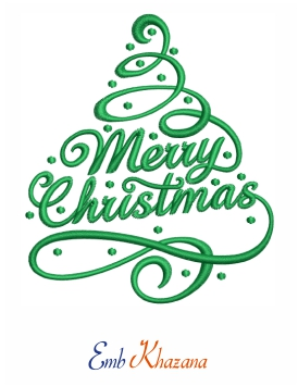 Merry Christmas Embroidery Pattern
