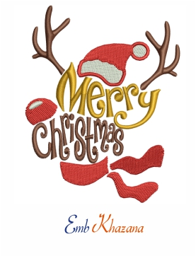 Merry Christmas With Antler