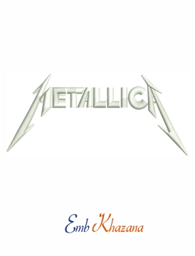 Metallica band logo embroidery design