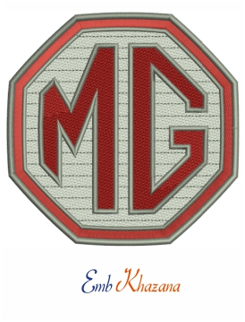 Mg car logo embroidery design