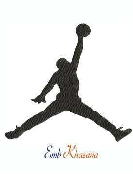 Michael Jordan Jumpman Logo Machine Embroidery Design