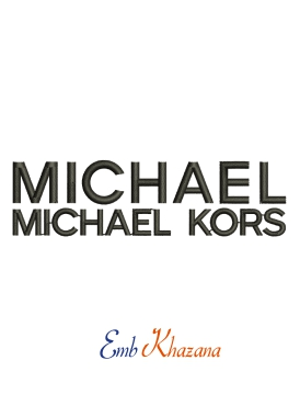 MICHAEL KORS logo embroidery design for machine
