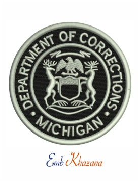 Michigan Department of Corrections embroidery design
