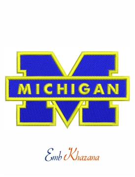 Michigan Wolverines Logo embroidery design
