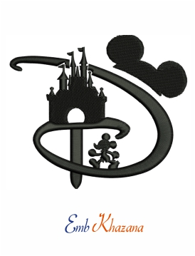 Mickey Mouse Castle embroidery design