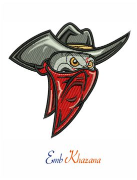 Middle TN Outlaws embroidery design