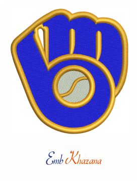 Milwaukee brewers logo embroidery design