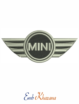 Mini Car Logo Embroidery Design
