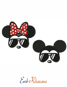 Minnie Mickey Embroidery Design