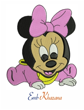 Minnie Mouse Baby Embroidery Design