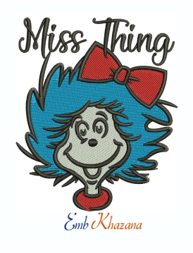 Miss Things Grinch Machine Embroidery Design