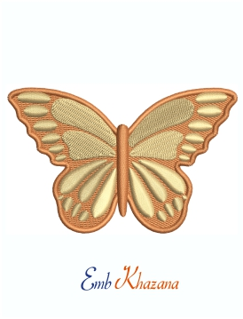 Monarch Butterfly Machine Embroidery Design