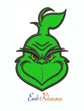 Monkey Head Grinch Machine Embroidery Design