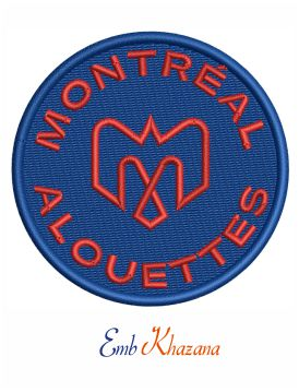 Montreal Alouettes Embroidery Design