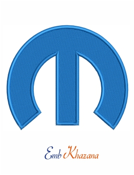 Mopar m logo embroidery design