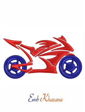 Motorcycle logo embroidery design