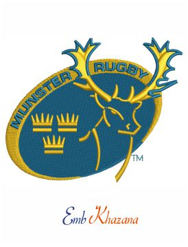 Munster Rugby embroidery design
