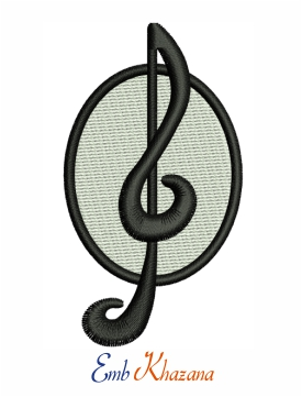 Music Sign Embroidery Pattern