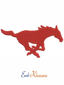 Mustang Mascot Logo embroidery design
