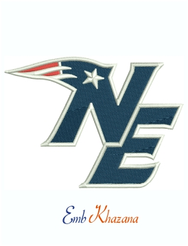 New England Patriots Logo Machine Embroidery Design