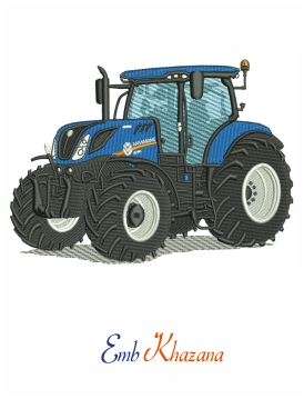 New Holland Tractor embroidery design