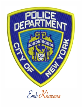 New York City Police Department embroidery design