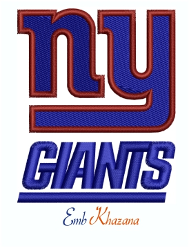 New York Giants Logo Machine Embroidery Design