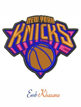 New York Knicks logo embroidery design