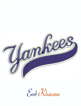 New York Yankees Uniform Logo Machine Embroidery Design